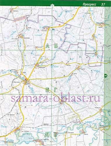 Карта Пестравского района